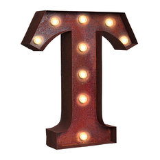"""Vintage Retro Lights and Signs Letter """"T"""""""