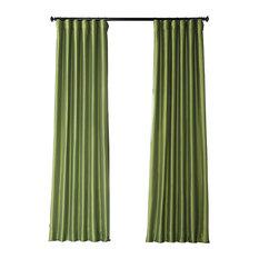 "Fern Faux Silk Taffeta Curtain Single Panel, 50""x96"""