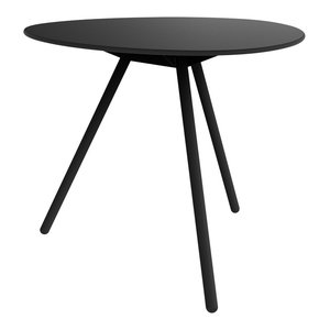 Dine A-Lowha Dining Table, Black, Black Frame