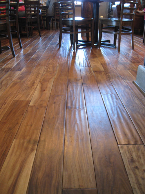 Acacia natural hand scraped for Hardwood floors uneven