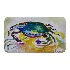Betsy Drake Green Crab Bath Mat 18x30