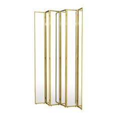 "Mirrored Room Divider, Eichholtz Gabrielle, Black, 59""x59""x86"""