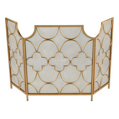 Three Magi Fireplace Screens & Accessories in Gold
