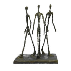 Three Walking Man By Gia Hot Cast Bronze Sculpture Figurine Figure Decor