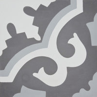 "8""x8"" Tanger Handmade Cement Tile, Dark and Light Gray, Set of 12"