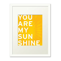 Keep Calm Collection - You Are My Sunshine, white frame (sunshine yellow) - Prints and Posters