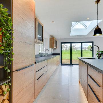 Natural Nobilia Kitchen in Mannings Heath, West Sussex