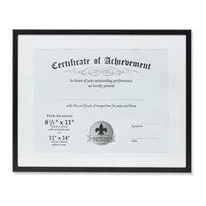 11x14 Dual Use Black Aluminum Document Frame