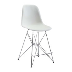 Zip Counter Chair, White