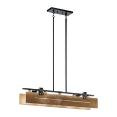 Kichler Ridgewood 5 Light Linear Chandelier in Textured Black