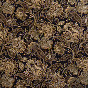 Designer Roman Shades Plain Fold, 33Wx45H, Jacobean Blackbird