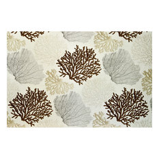Coral Fabric Brown Ocean, Standard Cut