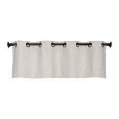 "Harrison Grommet Top Curtain Valance, Pumice Stone, 54""x18"""