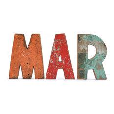 - Letras de madera reciclada - MAR - Letras para la pared