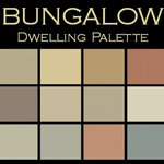"""Benjamin Moore Paint colors - Color in Space Bungalow Palette™ --organic & calm - Each palette consists of twelve Benjamin Moore® paint colors in 4"""" swatches and no colors are repeated. The intentional selection of the twelve colors ensures that they are energetically balanced and will create the feeling of the dwelling for which it is named."""