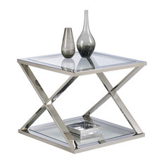Gotham End Table Stainless Steel