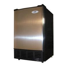 Undercounter Ice Maker w Stainless Steel Door & Front Exhaust Fan