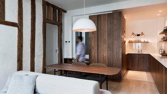 Rénovation appartement - L'alliance du bois et de la lumière