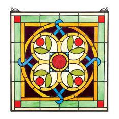 Celtic Floral Quatrefoil Window