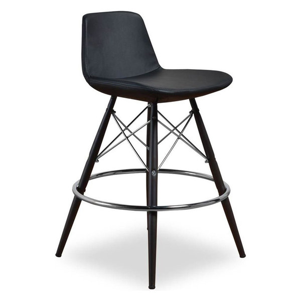 Counter Stool, Black, Set of 2