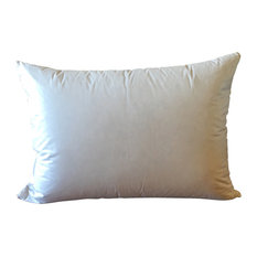 Superior Goose Down and Feather Pillow, White, Standard
