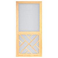 "Chippendale Wood Screen Door With Hardware, 32"""