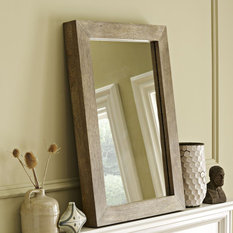 Wood wall mirrors Large Parsons Wall Mirror Natural Solid Wood Wall Mirrors Sign In 50 Most Popular Shop Mirrors On Houzz For 2019 Houzz Australia