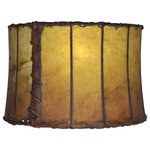"Mathews & Company - Leather 16"" Drum Floor Lamp Shade - Our Rustic style Leather 16"" Drum Floor Lamp Shade is a beautiful piece of hand-crafted accent for any lamp base."