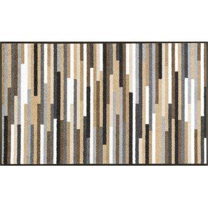 Mikado Stripes Door Mat, Brown, 120x75 cm