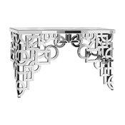 "58""x18"" Silver/Clear Mirror Table Home Decor"