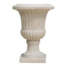 GDF Studio Napoli Antique Stone Planter, White