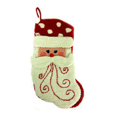 "20"" Hooked Christmas Stocking With 3-D Santa"