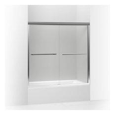 "Kohler - Kohler Gradient Sliding Bath Door, 58-1/16""x59.63"", Bright Polished Silver - Shower Doors"