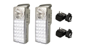 24-LED Lantern/LED Flashlight, Set of 2