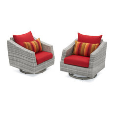Cannes Motion Outdoor Club Chairs, Set of 2 by RST Brands, Red
