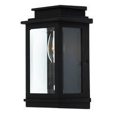 Fremont 1-Light Black Outdoor Wall Light