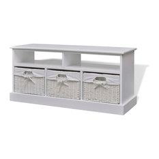 vidaXL - vidaXL Storage Bench Aarau White - Accent & Storage Benches