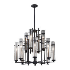 Murray Feiss Ethan 12 Light Chandelier F2629/8+4AF/BS