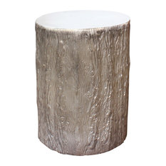 Tree Stump Side End Tables Houzz - White stump side table