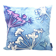Blue Cow Parsley Scatter Cushion, 45x45 cm