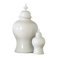 Global Views Beaufort Ginger Jar, White, Large