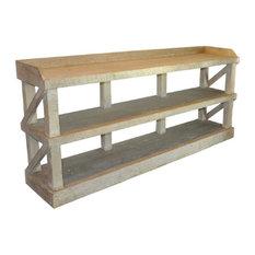 Reclaimed Lumber Low Bookshelf
