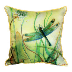 Betsy Drake Betsy's Dragonfly Indoor-Outdoor Pillow