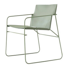 Sumy Pale Green Leather Chair