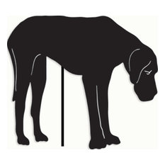 Great Dane Garden Art, Black, Garden Stake