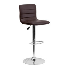 Delacora FF-CH-92023 Contemporary Adjustable Height Bar and - Brown