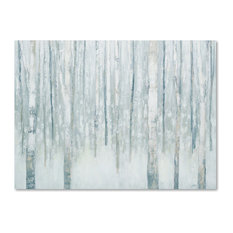 "Julia Purinton 'Birches in Winter Blue Gray' Canvas Art, 35"" x 47"""