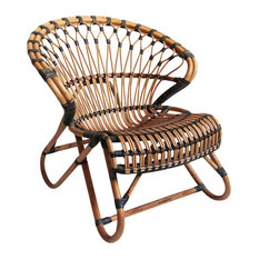 Design Mix Furniture - Bamboo & Rattan Side Chair - Armchairs and Accent  Chairs