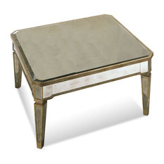 BASSETT MIRROR CO.   Bassett Mirror 8311 130 Borghese Mirrored Square  Cocktail Table