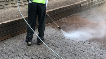 Pressure Washing Brick Driveway